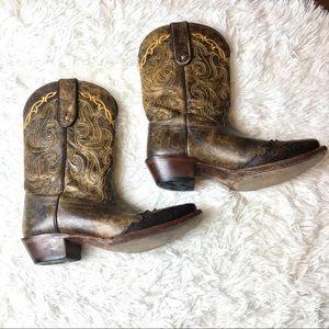 Tony Lama || Overlay Cowboy Women's Boots